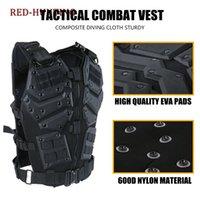 molle schwarze weste großhandel-Molle Tactical Vest Combat TF3 Body Weste Protector Schwarzes Training