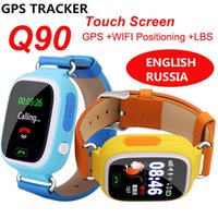 Wholesale android wifi phone watches for sale – best Q90 Bluetooth Smartwatch with GPS WiFi LBS for iPhone IOS Android Smart Phone Wear Clock Wearable Device Smart Watch Colors