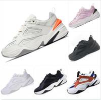 zapatillas deportivas gratis al por mayor-2019 Nike M2K Tekno Old grandpa Zapatillas de running para hombre Mujer Zapatillas de deporte Entrenadores atléticos Zapatillas deportivas al aire libre profesionales