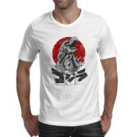 desenho de desenho de impressão de camisetas venda por atacado-Imprimir Camiseta Para Masculino Godzilla Uivo T Shirt Engraçado Design de Estilo Dos Desenhos Animados Filme Legal T-shirt Design Criativo Tshirt Unisex Top Tee