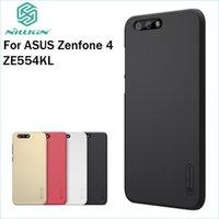 nilink süper buzlu kalkan toptan satış-4 Asus 4 ZE554KL Kapak Nillkin Kılıf Yüksek Kalite Süper Buzlu Shield için Zenfone 4 ZE554KL