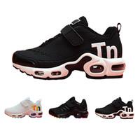 лучшие кроссовки бег трусцой оптовых-Nike Mercurial Air Max Plus Tn Детская обувь Mercurial TN Boys Дизайнер кроссовки для малышей Молодежные девушки Повседневные детские кроссовки Лучшие походы Бег Спортивные