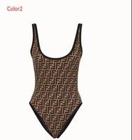 arkalıksız mayo toptan satış-Yaz Tasarımcı Tek parça Mayo Kadınlar Için Lüks Bikini Set Moda Marka Mayo FF Mektuplar Bayan Backless Mayo Ile 2 Stilleri