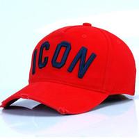meilleure conception de chapeau achat en gros de-Meilleure Qualité En Gros 100% Coton Casquettes de Baseball Lettres Hommes Femmes Classique Conception ICÔNE Logo Chapeau Snapback Casquette Papa Chapeaux