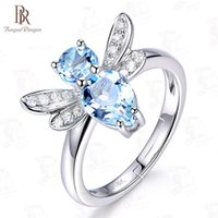 Wholesale silver jewelry sellers for sale - Group buy Bague Ringen NEW Best Sellers Silver Finger Jewelry Ring Temperament Topaz Dragonfly Animal Opening Adjustable Lovely Cute