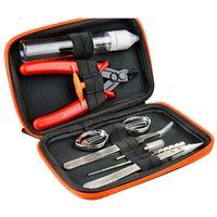 Wholesale jigs for resale online - Original V1 Tool Kit Set from Vapor Storm for vape DIY RDA RBA Building Coil Jig Screwdriver Scissors Tweezer Brush Carry Bag DHL