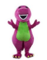 caçoa desenhos animados caráter mascote venda por atacado-Roxo Barney Mascote Traje de Cabeça mascotes escola personagem de desenho animado trajes do filme trajes para festa de crianças