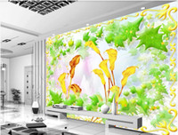 Wholesale bedroom art photos flowers for sale - 3d room wallpaper custom photo mural Flower vine calla background wall home decor wall art pictures wallpaper for walls d