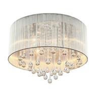 lamparas america al por mayor-2019 luces de techo de cristal moderno accesorio de la lámpara LED de cristal K9 Lámparas de techo de América vivo romántico sitio de la cama Inicio Iluminación Interior