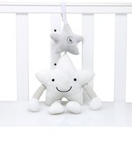 brinquedos sinuosos venda por atacado-A estrela branca branca dos carrilhões de vento móveis do luxuoso acompanha o brinquedo que pendura no presente da cama para bebês