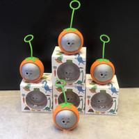 alto-falante mini silicone bluetooth venda por atacado-Bonito mini alto-falante bluetooth com silicone case gancho sem fio portátil rodada soundbox padrão especial