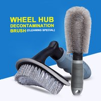Wholesale t handle tool for sale - Group buy Car Wheel Wash Brush Plastic Handle Vehicle T Type Cleaning Brush Wheel Hub Rims Tyre Washing Maintenance Cleaning Tools