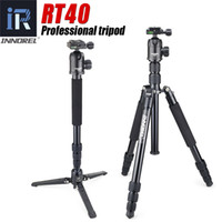 Wholesale photographic cameras for sale - Group buy RT40 Professional Photographic Travel tripod monopod Compact Aluminum alloy camera stand for DSLR Camera High quality cm max
