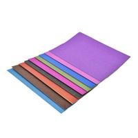 mavi kağıt dekorasyonlar toptan satış-10 Levhalar renkli glitter kağıt dekorasyon modern stil çevre dostu yüksek kalite 21x29.7 cm A4 glitter kağıt el sanatları