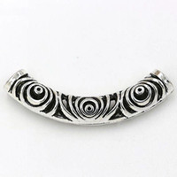 20e2c03a7 Wholesale spacer beads resale online - Hot Tibetan Silver zinc alloy Hollow  Curved Tube Spacer Beads