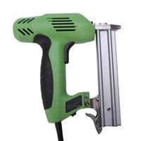 agujas de poder al por mayor-Grapadora de clavos HLZS-2 en 1 Grapadora de clavos eléctrica Grapadora de herramientas eléctricas Ac220V Grapadora 45 agujas / min para muebles de carpintería Enchufe de EE. UU.