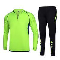 Grün Heißer Verkauf Beiläufig Fußball Trainingsanzug Jersey Tracksuits Langarm Fußball Trikots Fußballjacke Jogging Jogging lange Hosen