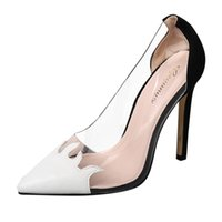 Wholesale casual men elegant shoes resale online - SAGACE Elegant High Heeled Sandals Women Transparent Pointed Toe Thin Heeled Shoes Ladies Casual Sandals Shoes For Party