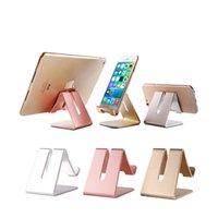 tischplatten-tischständer großhandel-Universal-Handyhalter Aluminiumlegierung Anti-Rutsch-Handy-Halter Desktop-Schreibtischhalterung Telefon Stand für iPhone Smartphone Samsung Tablet