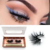 falsche wimpern-kits großhandel-Neue magnetische Wimpern Magnet Eyeliner Kit wasserdicht langlebige Eyeliner 3d Nerz falsche Wimpern mit Verpackung Box