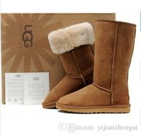 Wholesale stretch thigh high for sale - Group buy Classic Australia Tall Boots Waterproof Cowhide Genuine Leather Snow Boots Bailey Warm Shoes For Women