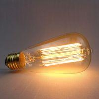 ingrosso filamento della lampada-Retro Edison Lampadina E27 220V 40W ST64 T45 G80 Lampadina Vintage Globe Lampadina incandescente antica Lampada Edison