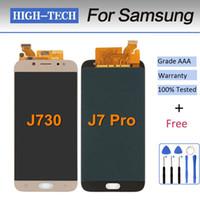 ingrosso regolazione del sensore-Regola per Samsung Galaxy J730 J7 Pro 2017 Full Touch Screen Digitizer Sensor Vetro + Display LCD Monitor Panel Assemblaggio del modulo
