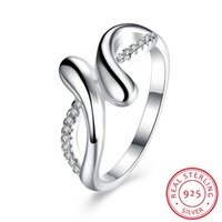 Wholesale geometric rings online - 2019 Anel Feminino Sale Bezel Setting Geometric New Style S925 Sterling Ring Anniversary Trendy Jewelry For Women s Fine Rings