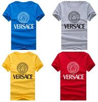 erkek kısa kollu sweatshirtler toptan satış-2019 Sıcak Satış Klasik Erkekler T gömlek kısa Kollu O boyun Erkek T-shirt Pamuk Tees Tops Erkek Marka tişört Artı boyutu S-4XL Tişörtü
