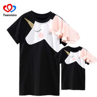 Wholesale matching clothing for mom daughter for sale - Group buy Family Matching Clothes Mother Daughter Dresses Matches Unicorn Dress T shirt For Mom Mommy Me d Print Clothing Funny Outfits Y19051504