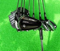 Wholesale BIRDIEMaKe Golf Clubs P790 Irons P790 Golf Iron Set Black PS R S SR Flex Steel Graphite Shaft With Head Cover