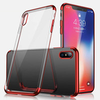 Wholesale clear back plate iphone for sale – best Ultra Thin Electroplating Plating Soft Clear TPU Case For iPhone Pro Max XS XR MAX Back Cover Mobile Phone Cases