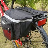 Wholesale pack saddle for sale - Mountain Bike Back Pack High Capacity Water Proof Double Deck Bicycle Rear Shelf Bag With Zipper Convenient Saddle Bags hlD1