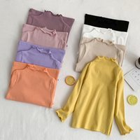 Wholesale organic cotton baby clothing resale online - INS New Arrival Girls T Shirt Long Sleeve Cotton Quality Fashion Autumn Winter Baby Girl Clothes Girls Top years