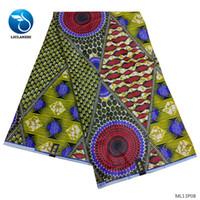 tecido de linho tingido venda por atacado-LIULANZHI tecidos de cera de algodão africano tecidos vestido de cera 2019 nova chegada imprime tecido para as mulheres se vestem 6 metros ML13P08-ML13P13