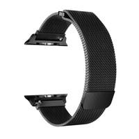 apple watch milanese loop al por mayor-Pulsera Loop milanesa banda de acero inoxidable para Apple Watch serie 1/2/3 42mm 38mm correa de pulsera para iwatch serie 4 40mm 44mm banda moq100
