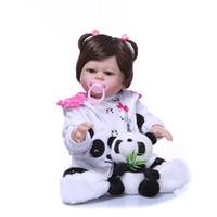 Wholesale boneca toys online - Bebe Reborn Boneca Reborn Soft Silicone Vinyl Dolls Soft Silicone Reborn Baby Doll Newborn Lifelike Dolls Kids Toy