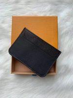 для женщин оптовых-Горячая распродажа классический женский пакет кредитных карт кошелек кошелек мужчины визитница Leathewith Box