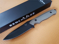 Wholesale bench made resale online - Hot Bench Made BM BKSN Nimravus Tactical Knife Fixed Blade Outdoor Camping Survival Knife with ABS Handle Not BM42 Knife Knives