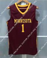 e778fc56d Cheap custom MINNESOTA GOLDEN GOPHERS #1 NCAA BASKETBALL JERSEY MAROON Stitched  Customize any number name MEN WOMEN YOUTH XS-5XL