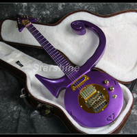 Wholesale guitars made for sale - Group buy 2019 New Purple Prince Electric Guitar Noble Style Gold Hardware CNC Made FR Bridge Solid body