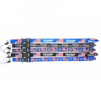 Wholesale digital lanyards resale online - Trump Lanyards Keychain USA Flag Make America Great Again ID Badge Holder Key Ring Straps for Mobile Phone OOA8092