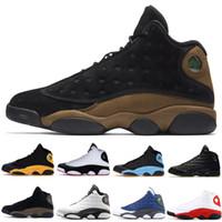 кошки обувь женская оптовых-13 Bred Chicago мужские баскетбольные кроссовки 13s Black Cat бароны голограмма Дизайнер Атлетика Тренеры мужские женские спортивные кроссовки