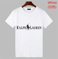 projetado camisas polo venda por atacado-Estilo clássico POLO Ralph projeto POLO camisa de algodão fivela dupla moda casual tendência avant-garde POLO homens camisa dos homens t