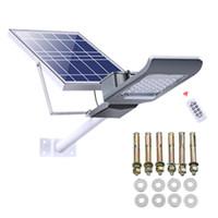 luces del panel 12v al por mayor-Luz de calle solar Anochecer al amanecer Panel solar IP66 Impermeable Alimentado por energía solar Luz de inundación Luz de seguridad para exteriores