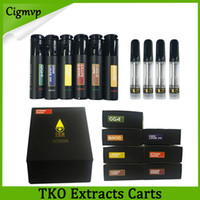 Wholesale oils displays for sale - Group buy Newest black TKO Extracts Vape Cartridge ml Ceramic Coil For Thick Oil Thread Flavors Sticker Boxes and Display Box