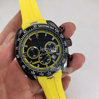 kol saati toptan satış-Moda Erkekler spor İzle T048 Tony parker Sınırlı saatler PRS 330 T-Spor T-Yarış MotoGP Lastik bant Siyah Dial chronograph Kuvars saatler