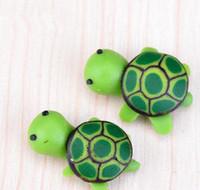 ingrosso green moss-artificiali simpatici animali tartaruga verde fata giardino miniature gnomes muschi terrari in resina figurine per la decorazione del giardino