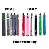 evod batterien für ecigs großhandel-Neue angekommene heiße Verkauf Evod Twist II III VV-Batterie 1600mAh variable Spannung 3.3v-4.8v Batterie Ego Vision Spinner 2 3 Ecigs Batterie