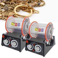 ingrosso macchine lucidatrici uk-Rotary Tumbler lucidatore dei monili gioielli lucidatura macchina più pulita 220V EU / spina UK per uso professionale del gioielliere Produzione Attrezzature